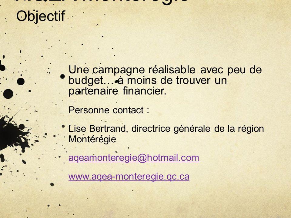 AQEA Montérégie Objectif
