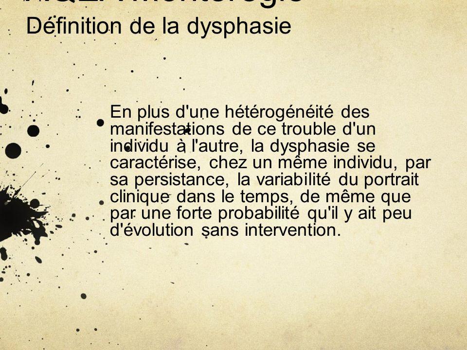 AQEA Montérégie Définition de la dysphasie