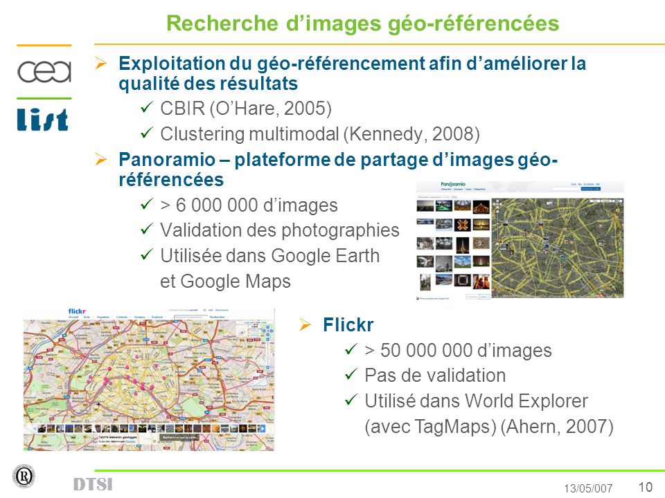 Recherche d'images géo-référencées