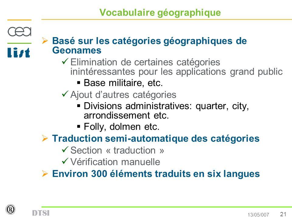 Vocabulaire géographique