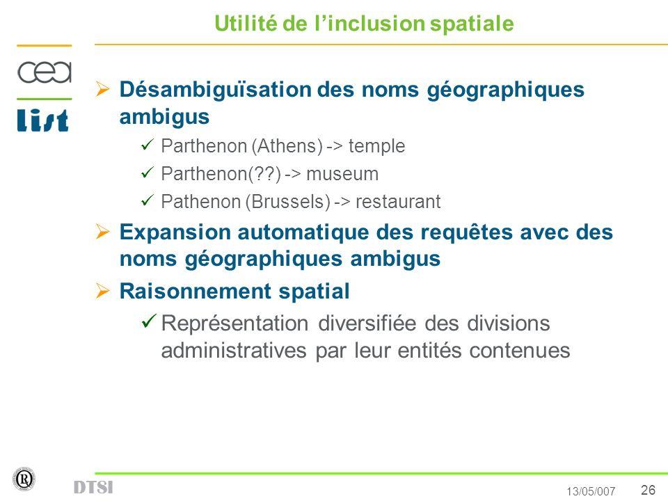 Utilité de l'inclusion spatiale