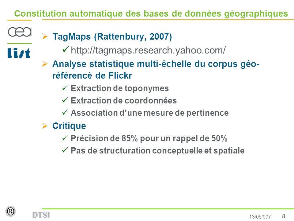 Constitution automatique des bases de données géographiques