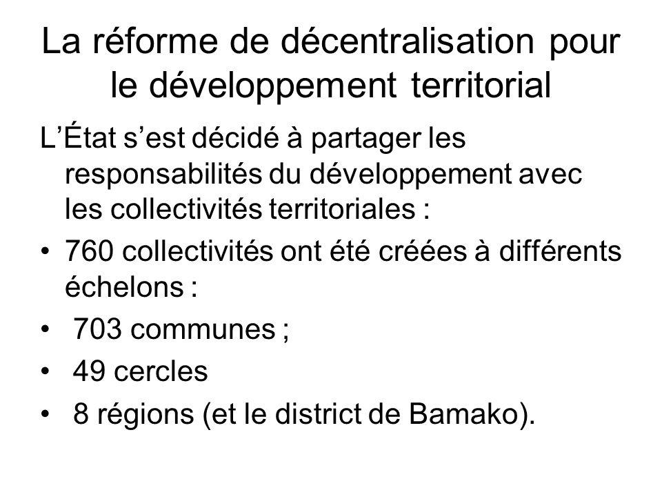 La réforme de décentralisation pour le développement territorial