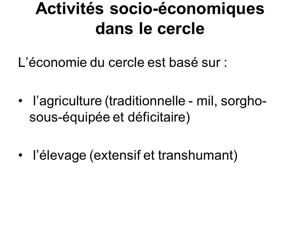 Activités socio-économiques dans le cercle