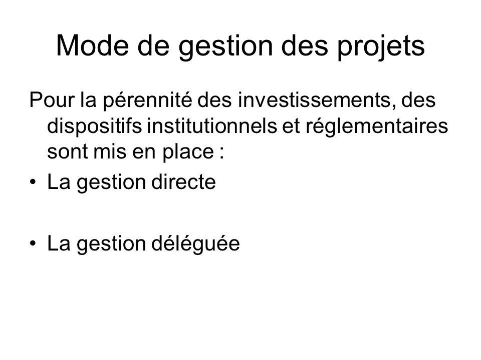 Mode de gestion des projets