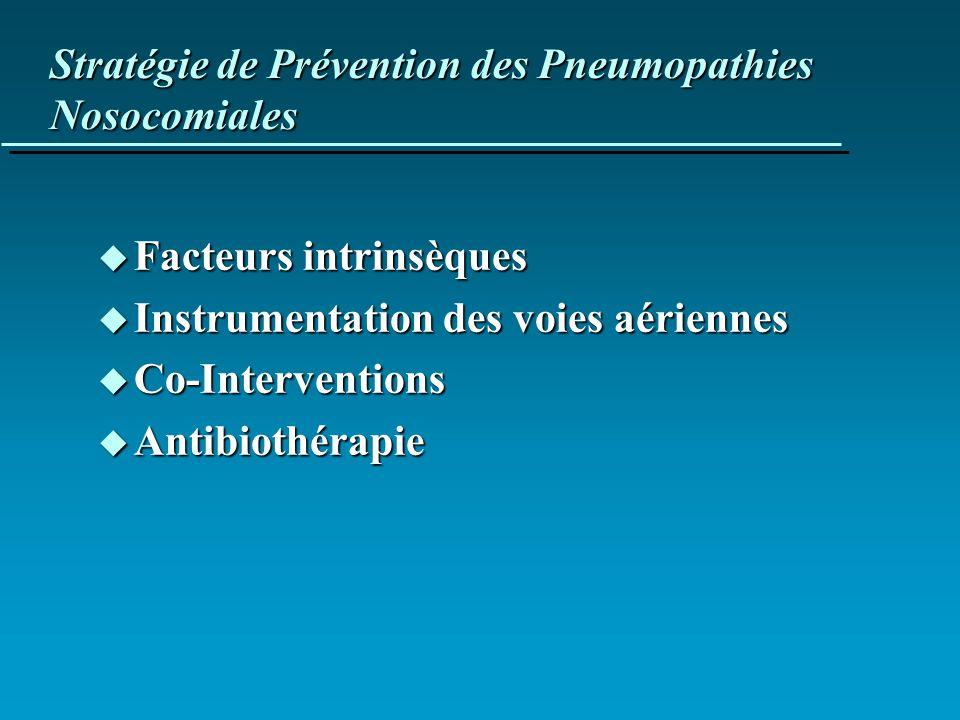 Stratégie de Prévention des Pneumopathies Nosocomiales