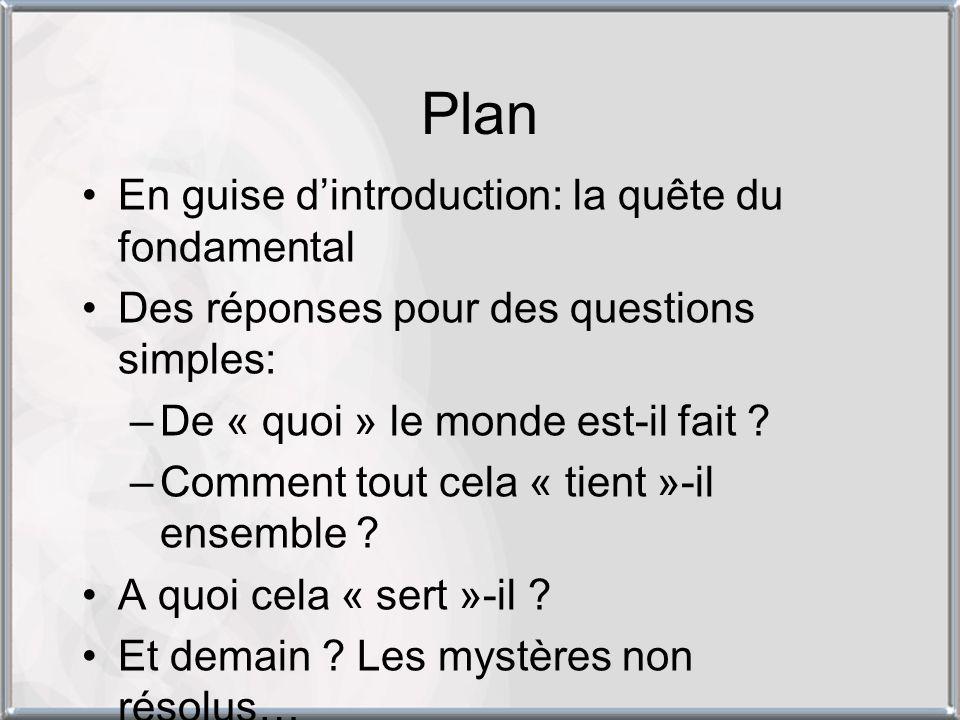 Plan En guise d'introduction: la quête du fondamental