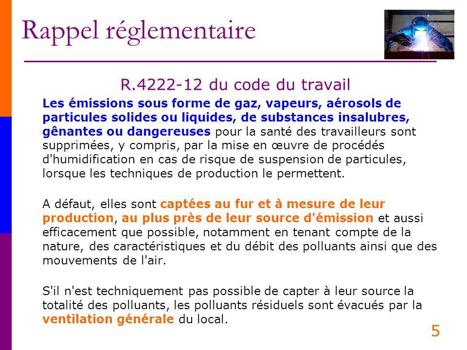 Rappel réglementaire R.4222-12 du code du travail