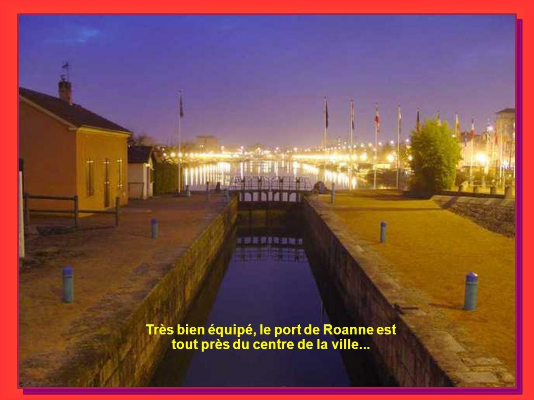 Très bien équipé, le port de Roanne est tout près du centre de la ville...