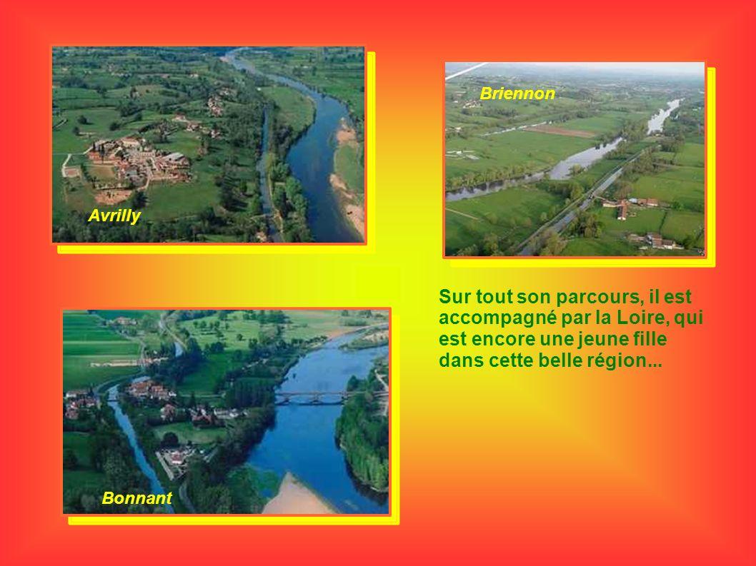 Briennon Avrilly. Sur tout son parcours, il est accompagné par la Loire, qui est encore une jeune fille dans cette belle région...