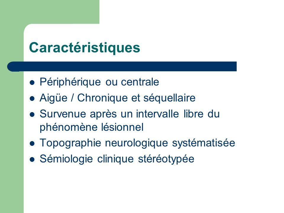 Caractéristiques Périphérique ou centrale