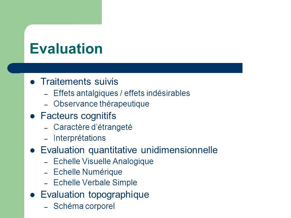 Evaluation Traitements suivis Facteurs cognitifs