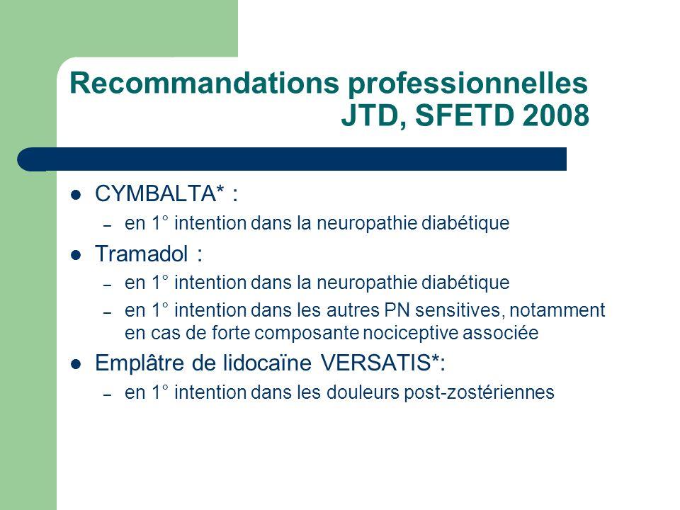 Recommandations professionnelles JTD, SFETD 2008