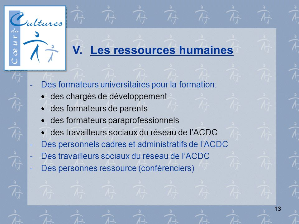 V. Les ressources humaines