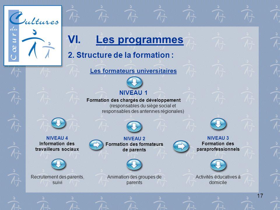 VI. Les programmes 2. Structure de la formation :