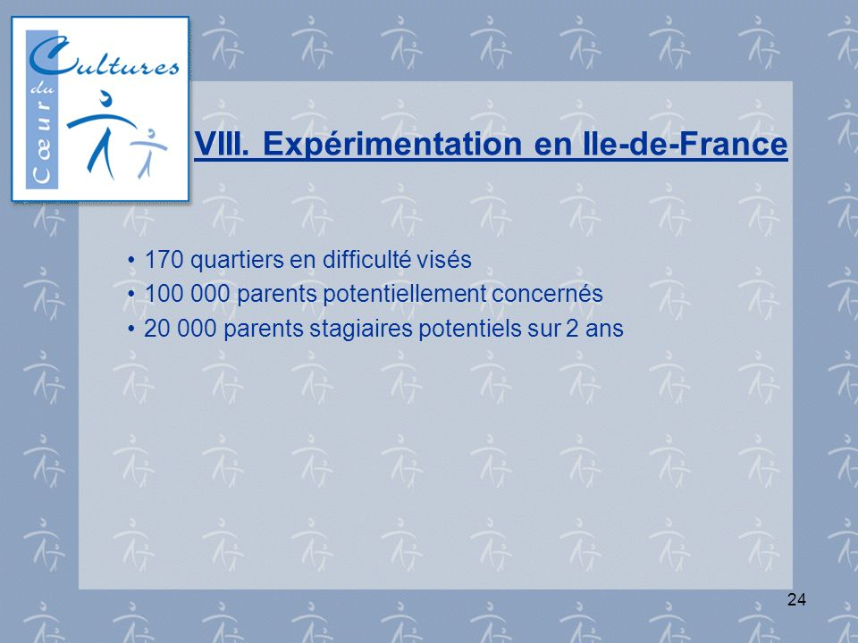 VIII. Expérimentation en Ile-de-France