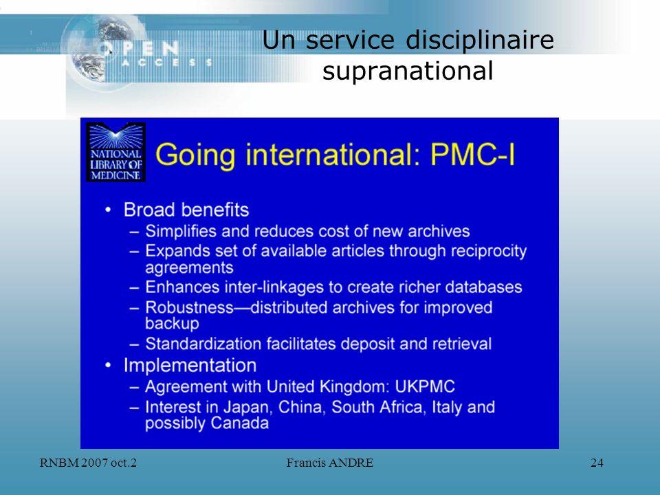 Un service disciplinaire supranational