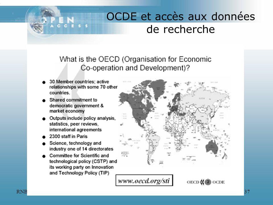OCDE et accès aux données de recherche