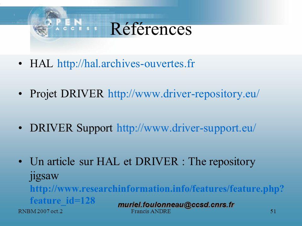Références HAL http://hal.archives-ouvertes.fr