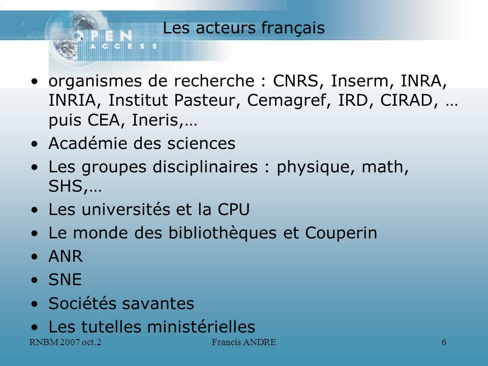 Les groupes disciplinaires : physique, math, SHS,…