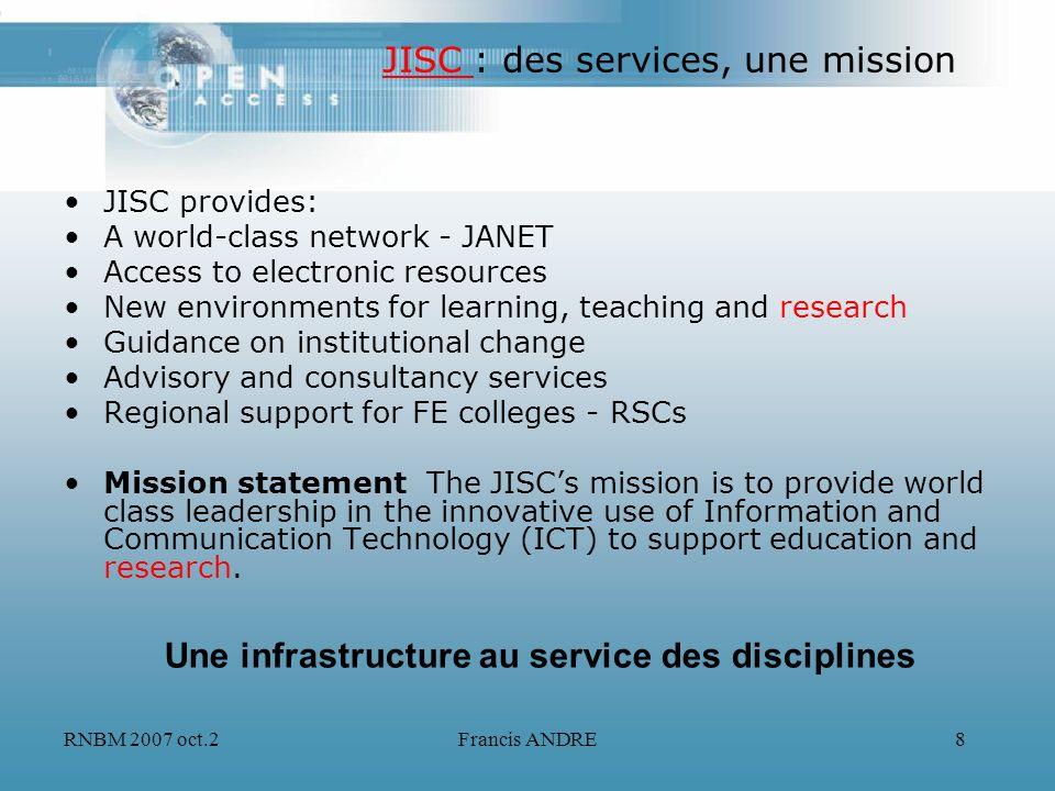 JISC : des services, une mission
