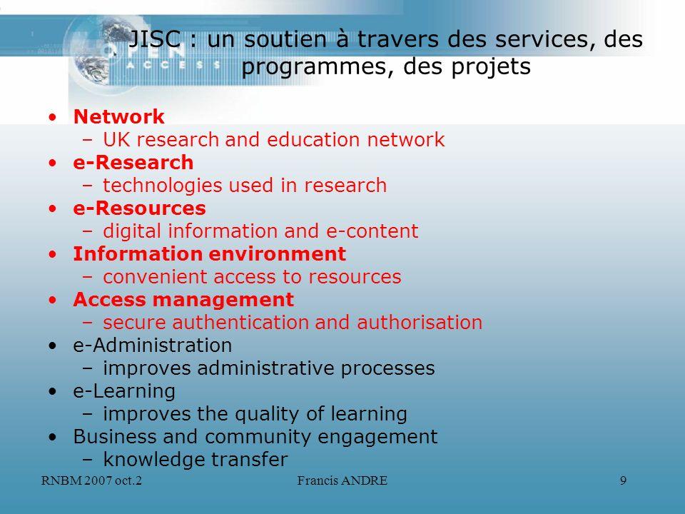 JISC : un soutien à travers des services, des programmes, des projets