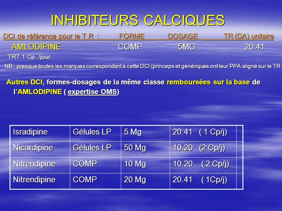 INHIBITEURS CALCIQUES