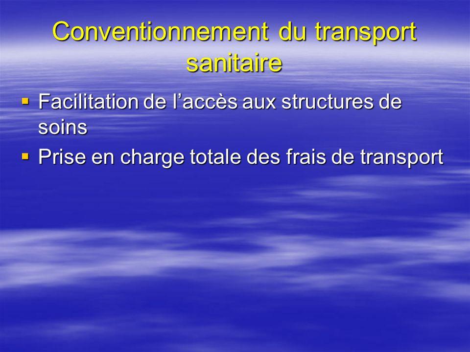 Conventionnement du transport sanitaire