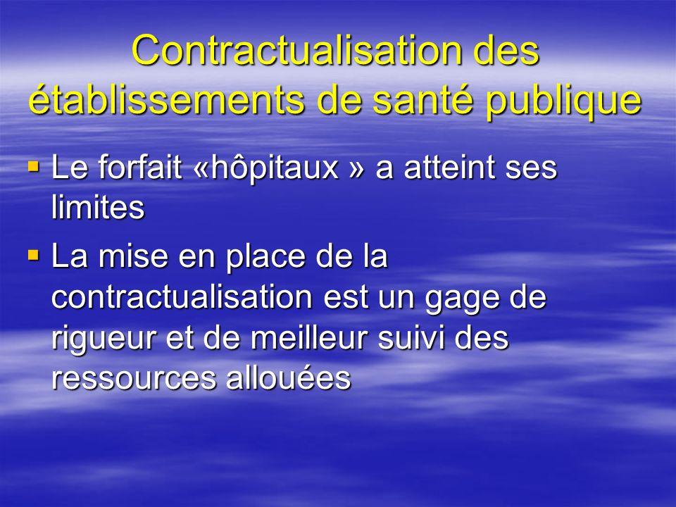 Contractualisation des établissements de santé publique