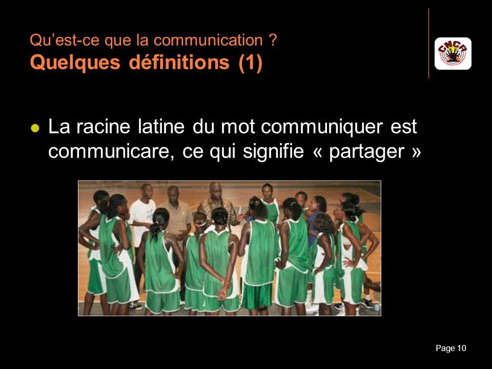 Qu'est-ce que la communication Quelques définitions (1)