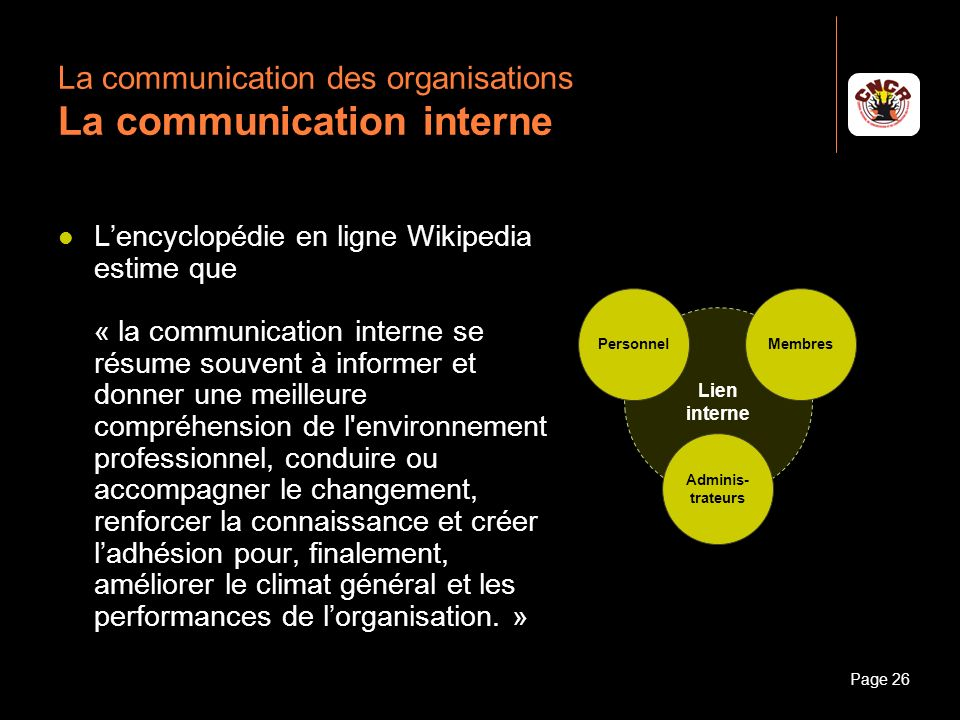 La communication des organisations La communication interne