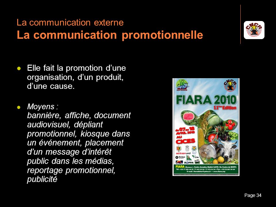 La communication externe La communication promotionnelle