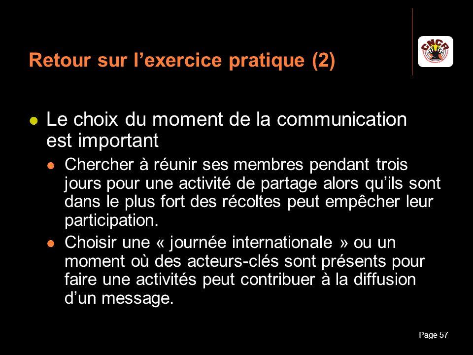 Retour sur l'exercice pratique (2)