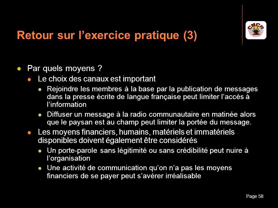 Retour sur l'exercice pratique (3)