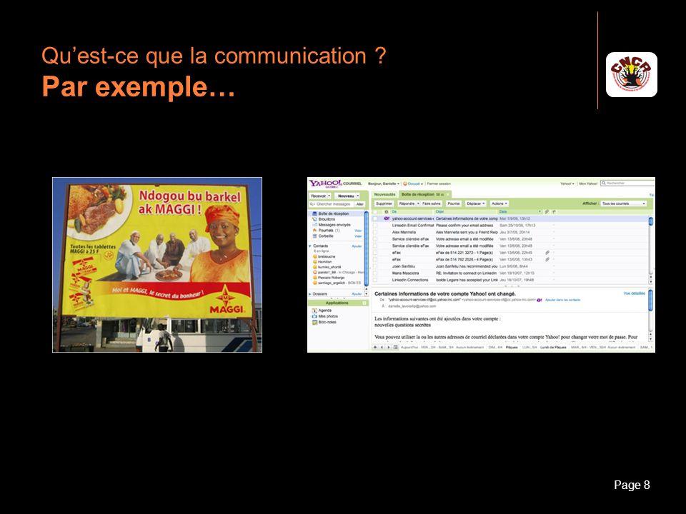 Qu'est-ce que la communication Par exemple…