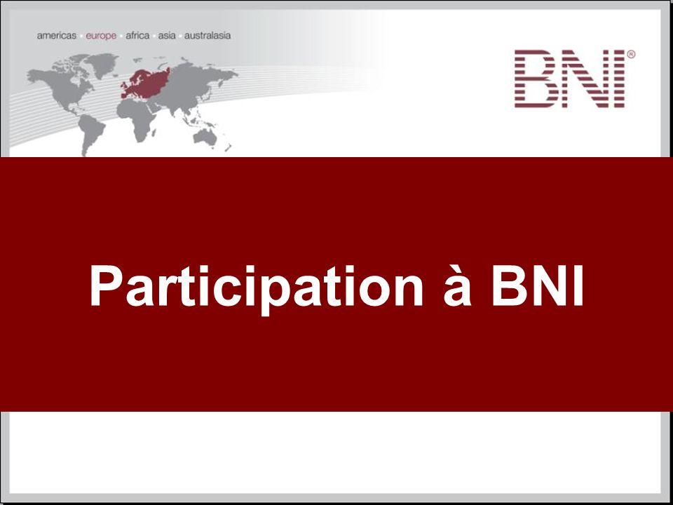 Participation à BNI