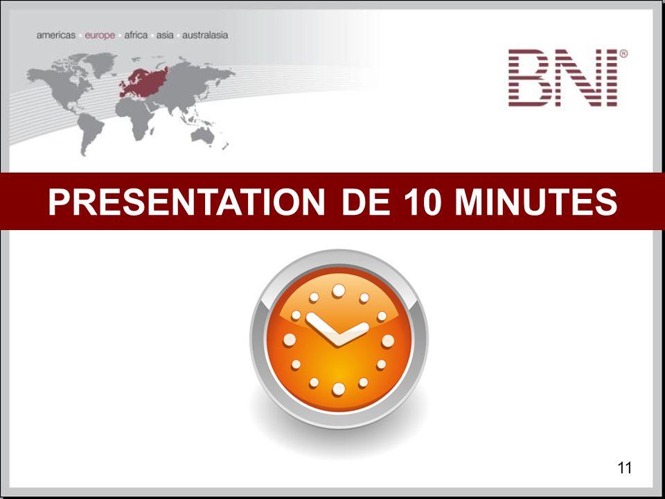 PRESENTATION DE 10 MINUTES