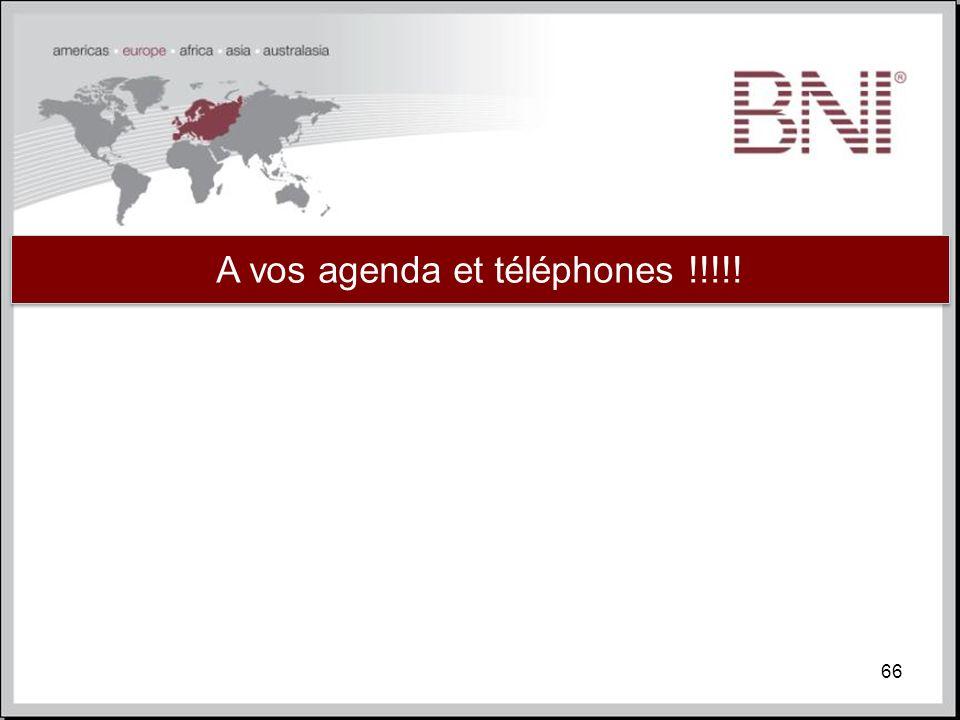 A vos agenda et téléphones !!!!!