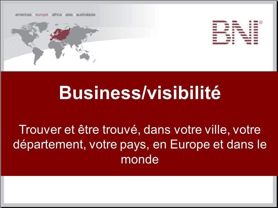 Business/visibilité Trouver et être trouvé, dans votre ville, votre département, votre pays, en Europe et dans le monde.