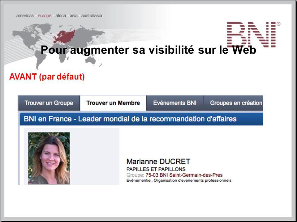 Pour augmenter sa visibilité sur le Web