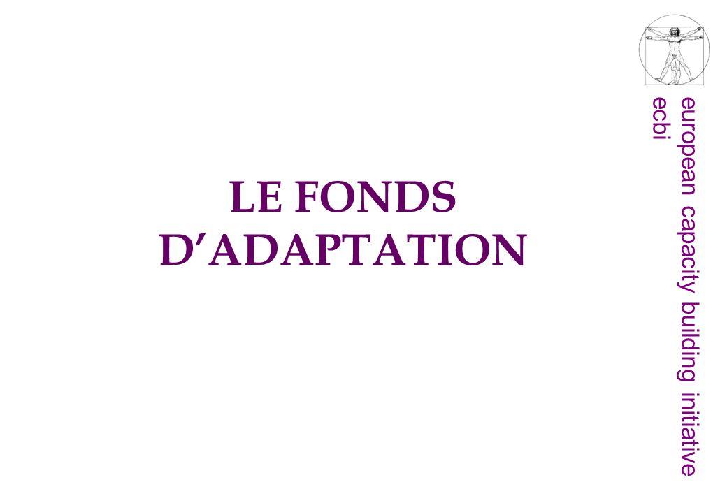 LE FONDS D'ADAPTATION