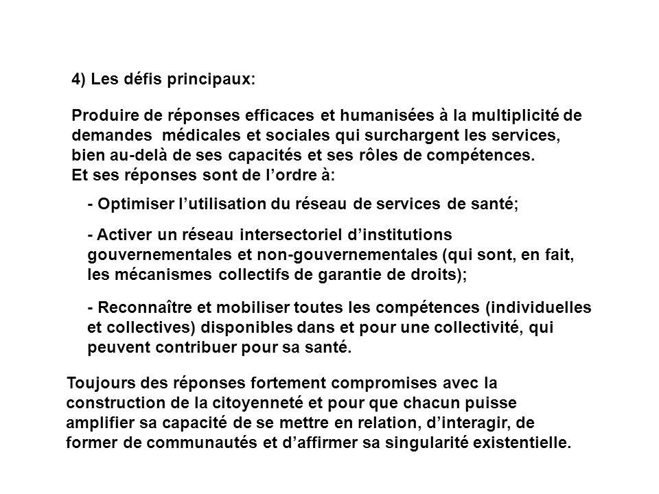 4) Les défis principaux: