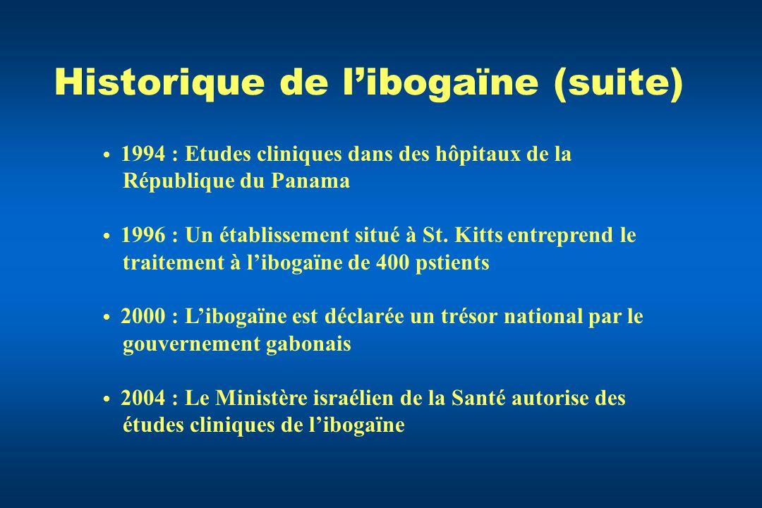 Historique de l'ibogaïne (suite)