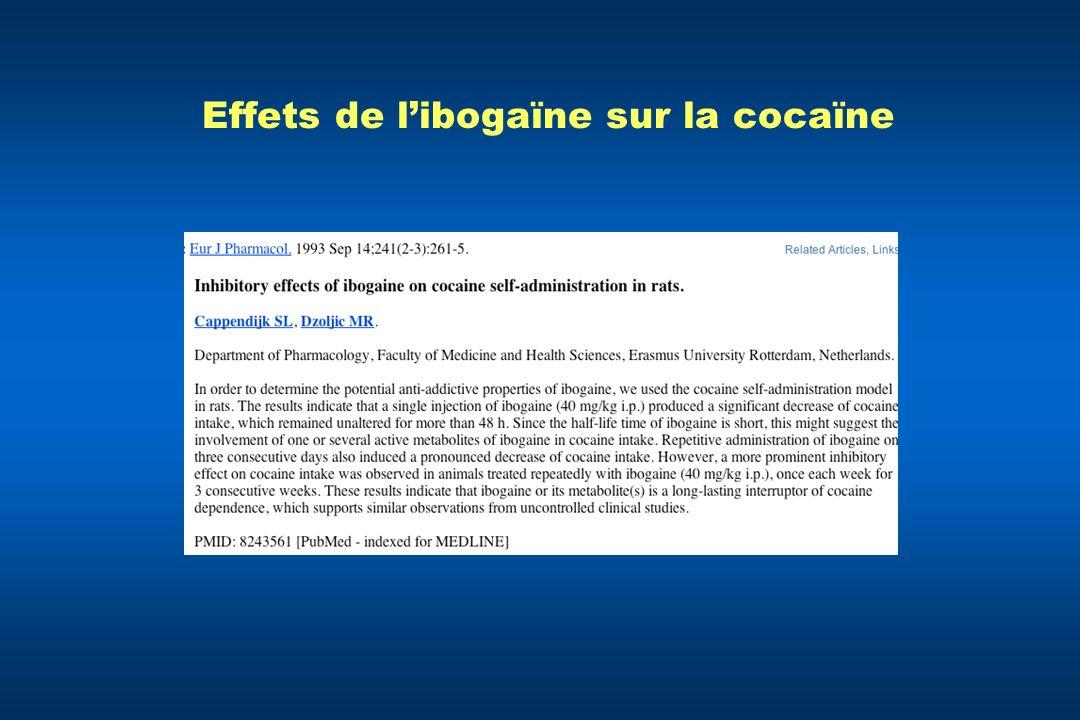 Effets de l'ibogaïne sur la cocaïne
