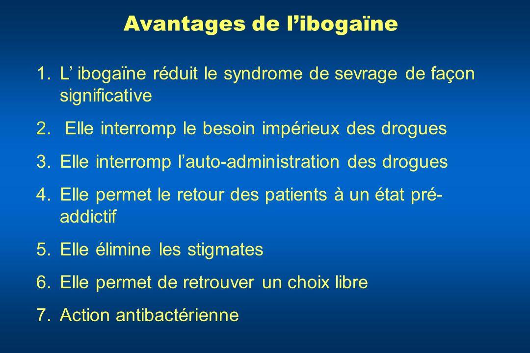 Avantages de l'ibogaïne
