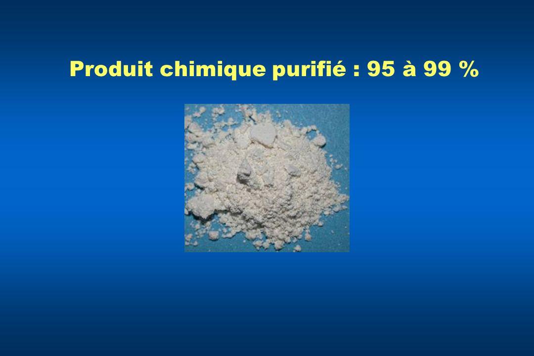 Produit chimique purifié : 95 à 99 %