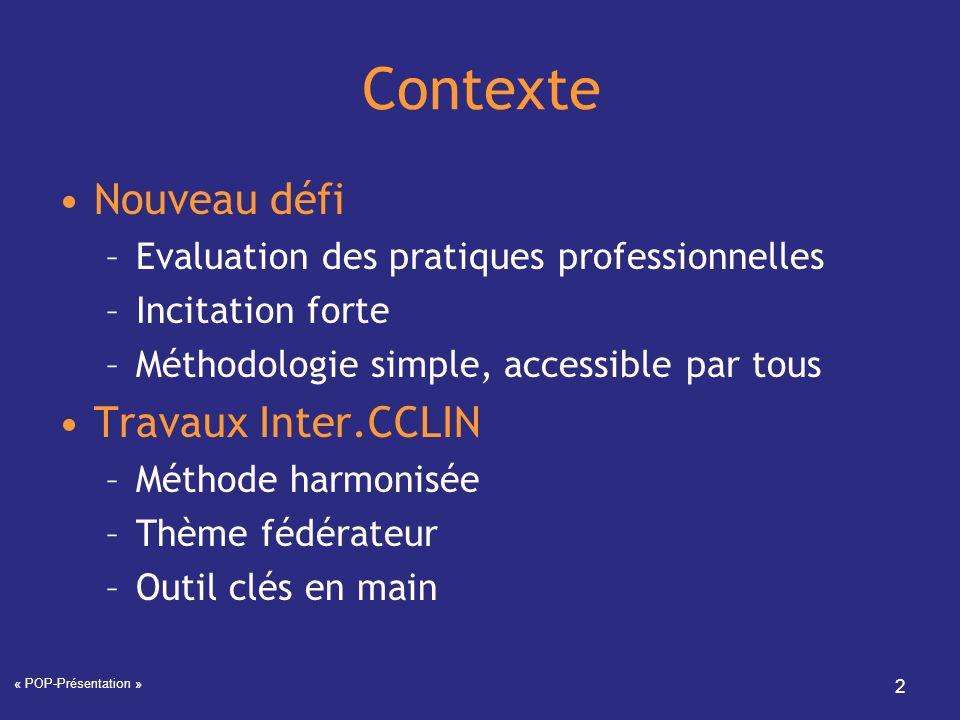 Contexte Nouveau défi Travaux Inter.CCLIN