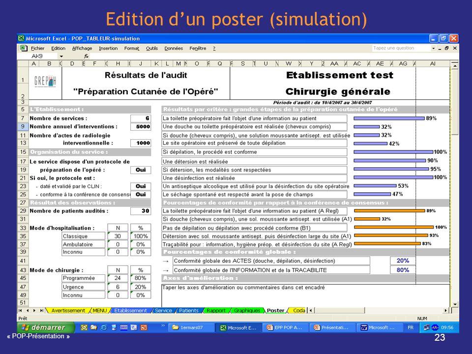 Edition d'un poster (simulation)