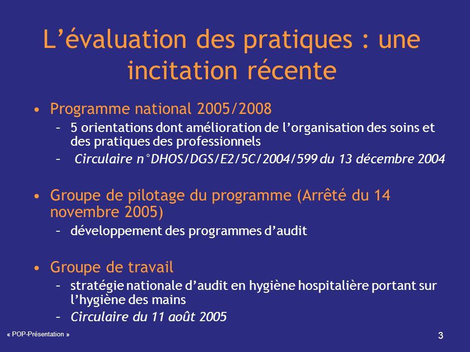 L'évaluation des pratiques : une incitation récente