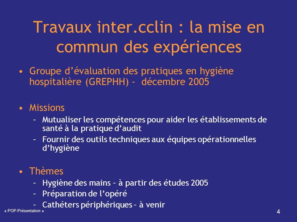 Travaux inter.cclin : la mise en commun des expériences